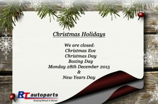 RT Autoparts Holiday Notice